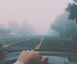 car, grunge, and road image