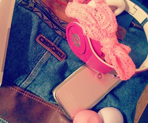 beats, cute, and pink image