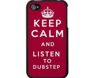 dubstep, iphone, and keep calm image