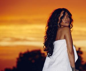rihanna, riri, and sunset image