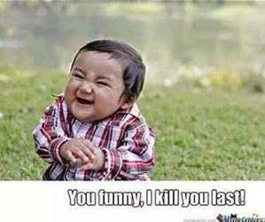 child, evil, and funny image