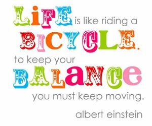 bike, color, and quote image