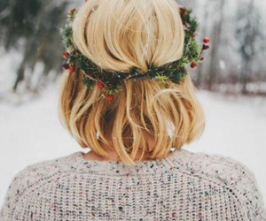 christmas snow hair image