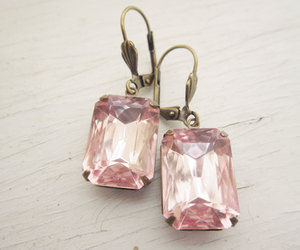 bridal, pink, and earrings image