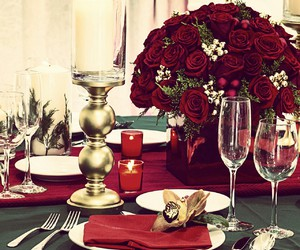 christmas, event planning, and table setting image