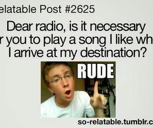 radio, funny, and rude image