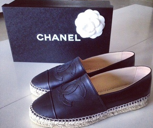 black and white, chanel, and chanel shoes image