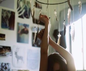 girl, dreamcatcher, and indie image