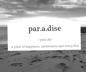 black and white, definition, and paradise image