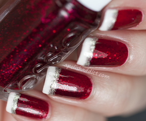 design, nails, and red image