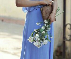 blue, girly, and maxi image