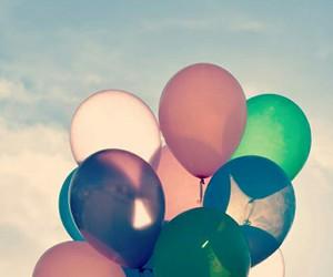 balloons, kawaii, and pretty image