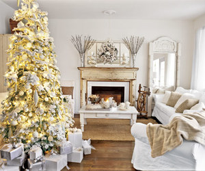 christmas, white, and christmas tree image