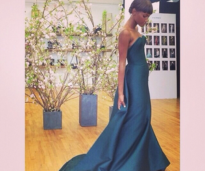 evening gown, teal, and fashion image