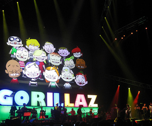band, gorillaz, and lights image