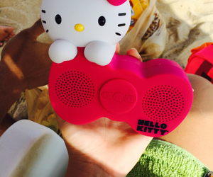 hello kitty, music, and pink image