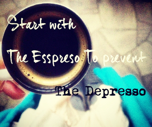 coffee, depression, and inspiration image