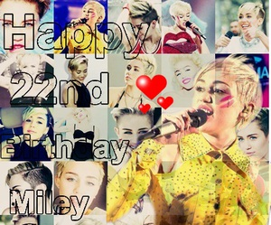 miley cyrus and happy birthday miley image