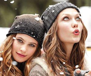 girl, snow, and Behati Prinsloo image