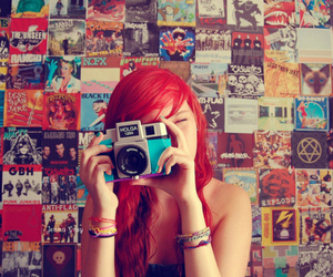 bracelets, camera, and red image