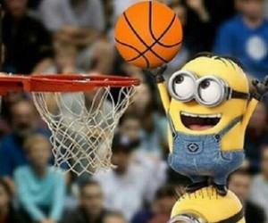 minions, basket, and Basketball image