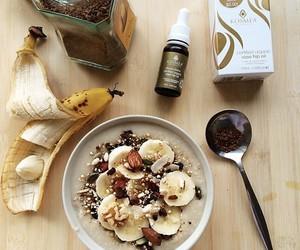 fruit, banana, and breakfast image