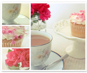 breakfast, flowers, and cup image
