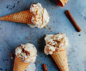 ice cream, food, and Cinnamon image