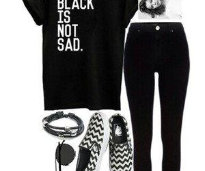black, chevron, and toms image
