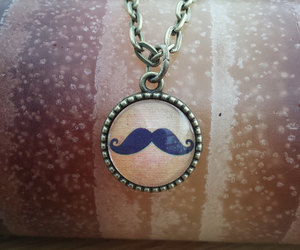 moustache, steampunk, and steampunk necklace image