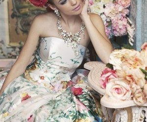 cool, dress, and flowers image