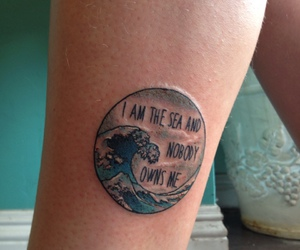 tattoo, quote, and sea image