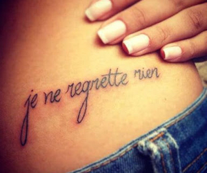 tattoo, french, and nails image