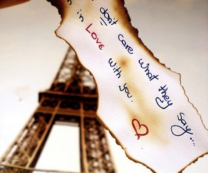 love, paris, and quote image