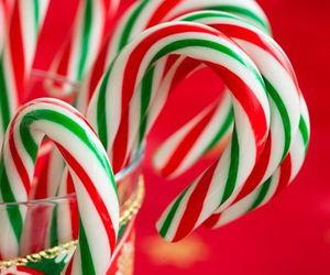 candy, candy canes, and christmas image
