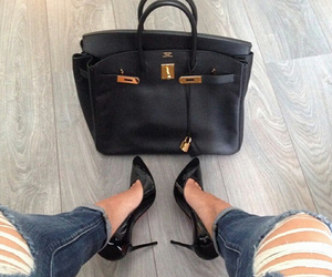 jeans, black, and bag image