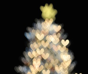 christmas, tree, and heart image
