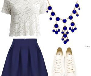 blue, fashion, and kette image
