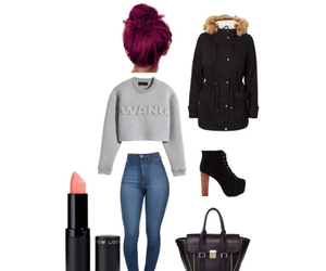 fashon, red hair, and Polyvore image