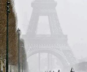 paris, winter, and snow image