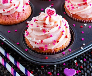 cake, candy, and cupcakes image