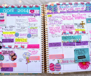 planner, agenda, and notes image