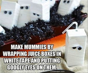 Halloween, idea, and juice boxes image