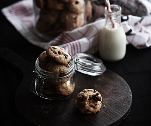Cookies, milk, and chocolate image