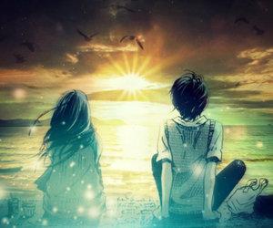 anime, beautiful, and landscape image