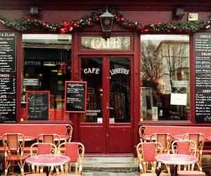 cafe, coffee, and christmas image