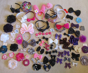 accessories, bows, and flowers image