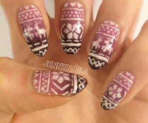 fashion, nail art, and snowflake image
