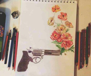 draw, flowers, and drawing image