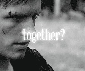 together, the hunger games, and peeta image